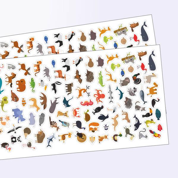 Stickerset mit Tiermotiven