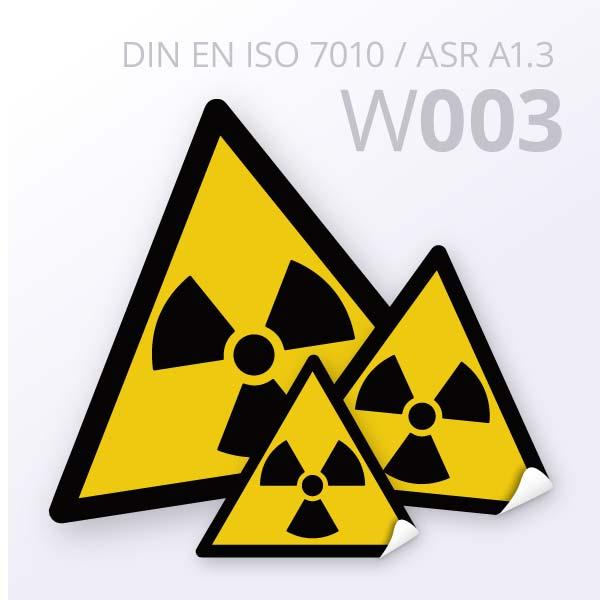 Warnzeichen-Warnung vor radioaktiven Stoffen oder ionisierender Strahlung
