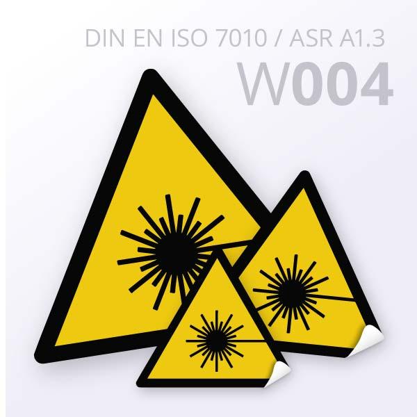 Warnzeichen-Warnung vor Laserstrahlen
