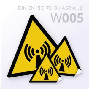 Warnzeichen-Warnung vor nicht ionisierender Strahlung