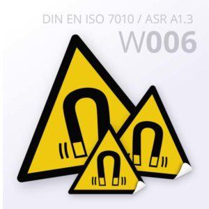 Warnzeichen-Warnung vor magenetischem Feld