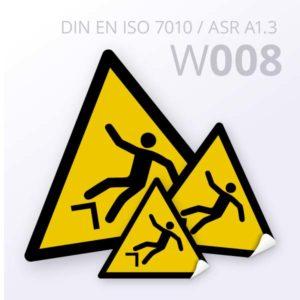 Warnzeichen-Warnung vor Absturzgefahr