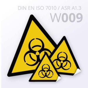 Warnzeichen-Warnung vor Biogefährdung