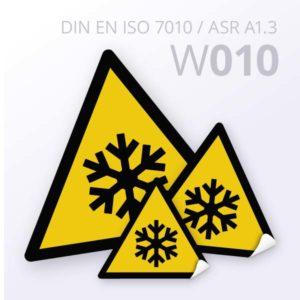 Warnzeichen-Warnung vor niedriger Temperatur/Frost