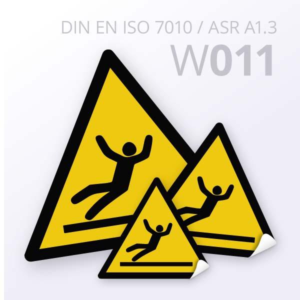 Warnzeichen-Warnung vor Rutschgefahr