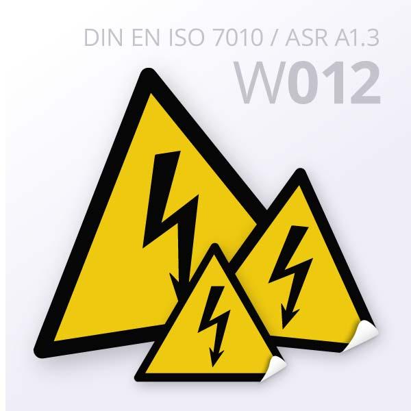 Warnzeichen-Warnung vor elektrischer Spannung