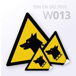 Warnzeichen-Warnung vor Wachhund
