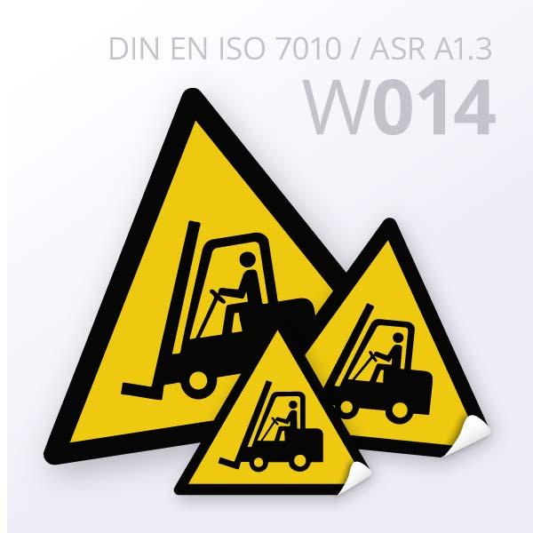 Warnzeichen-Warnung vor Flurförderzeugen