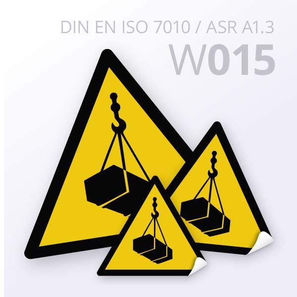 Warnzeichen-Warnung vor schwebender Last