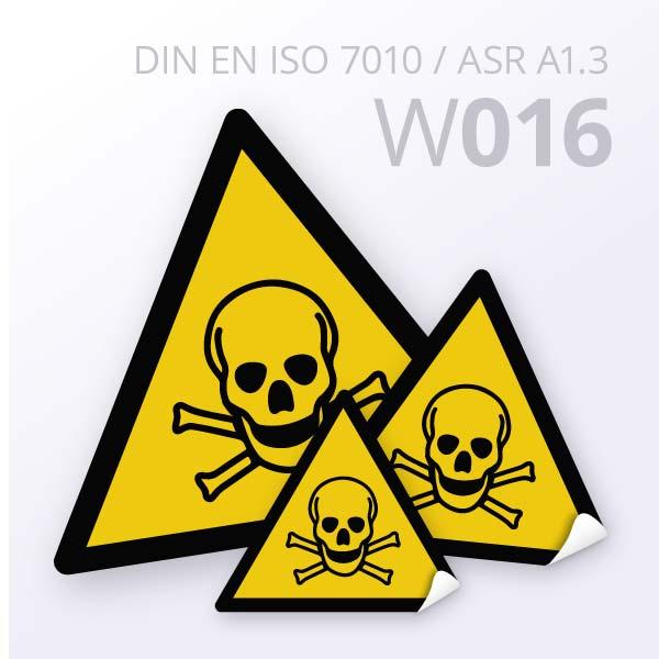 Warnzeichen-Warnung vor giftigen Stoffen