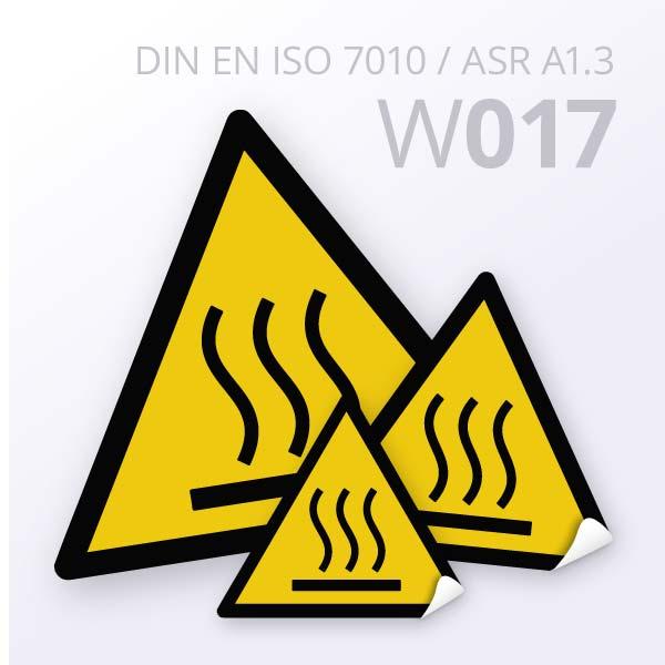 Warnzeichen-Warnung vor heißer Oberfläche