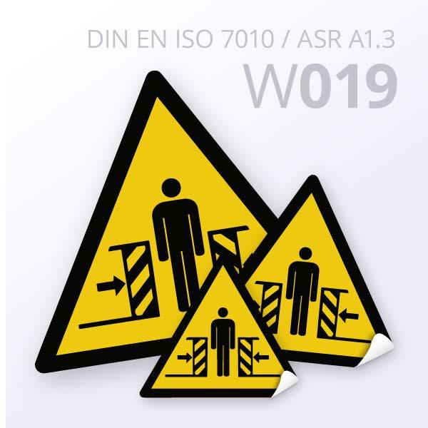 Warnzeichen-Warnung vor Quetschgefahr