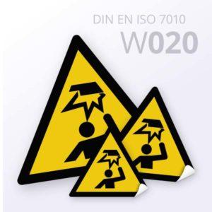 Warnzeichen-Warnung vor Hindernissen im Kopfbereich