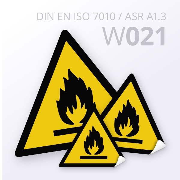 Warnzeichen-Warnung vor feuergefährlichen Stoffen