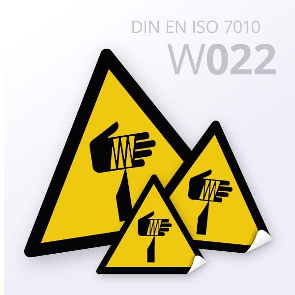 Warnzeichen-Warnung vor spitzem Gegenstand