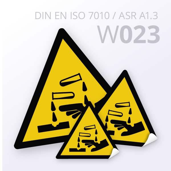 Warnzeichen-Warnung vor ätzenden Stoffen
