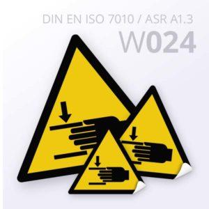 Warnzeichen-Warnung vor Handverletzungen