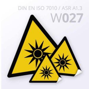 Warnzeichen-Warnung vor optischer Strahlung