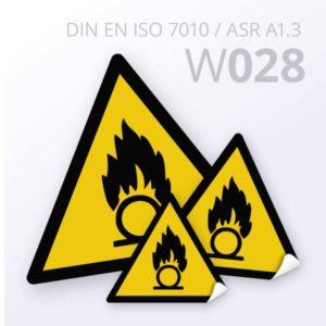 Warnzeichen-Warnung vor brandfördernden Stoffen