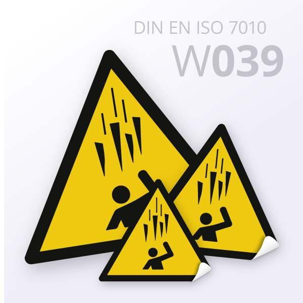 Warnzeichen-Warnung vor Eisschlag