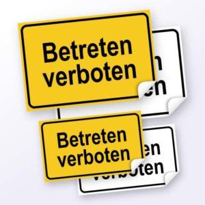 Hinweisschild-Betreten verboten