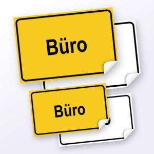 Hinweisschild-Buero