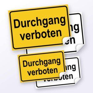 Hinweisschild-Durchgang verboten