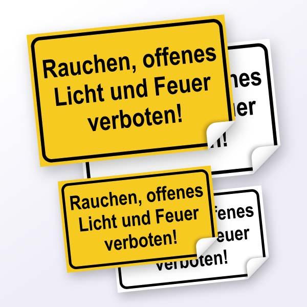 Hinweisschild-Rauchen, offenes Licht und Feuer verboten