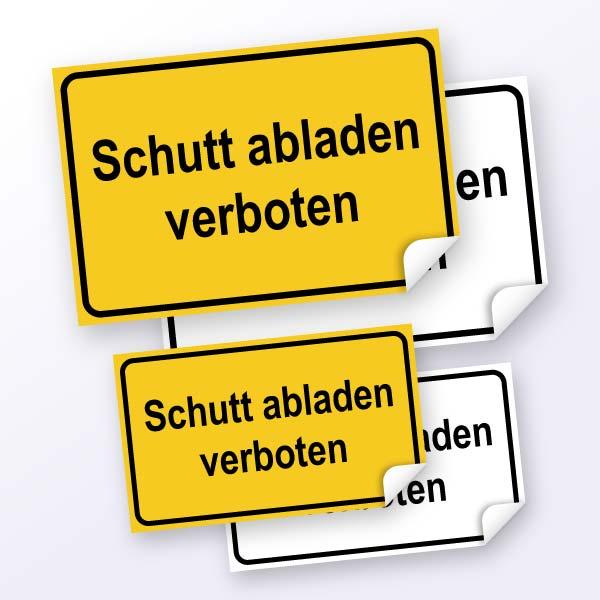 Hinweisschild-Schutt abladen verboten