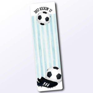 Lesezeichen mit Fussballmotiv