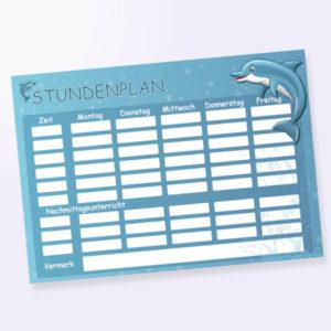 Stundenplan mit Delfin