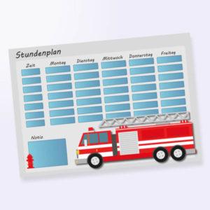 Stundenplan mit Feuerwehr