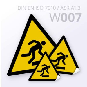 Warnzeichen-Warnungvor Hindernissen am Boden