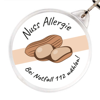 Allergieanhaenger Nuss Allergie