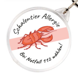 Allergieanhaenger Schalentier Allergie