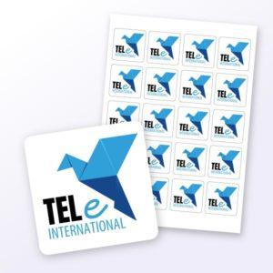 Logoaufkleber für Unternehmen quadratisch