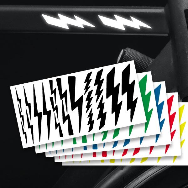 Reflektierende Aufkleber Blitze Set Sticker mehrere Farben