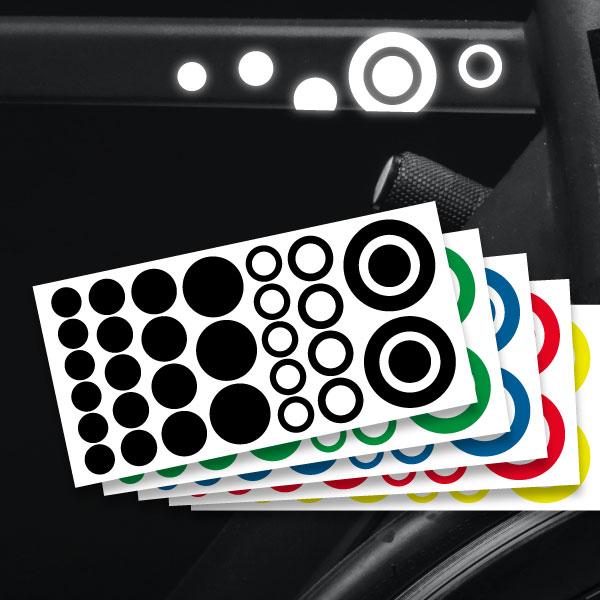 Reflektierende Aufkleber Kreis Set Sticker mehrere Farben