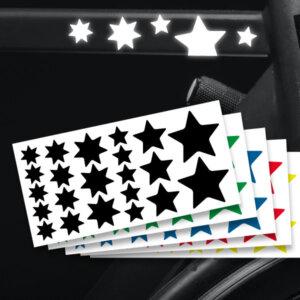 Reflektierende Aufkleber Sterne Set Sticker mehrere Farben