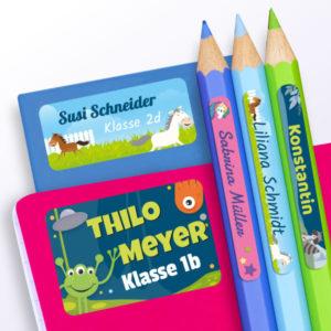 Stift- und Heftaufkleber