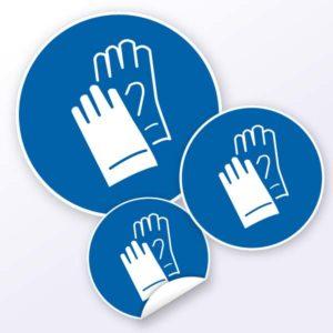 Gebotszeichen Handschutz benutzen