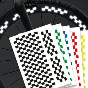 Reflektierende Aufkleber Fahrradaufkleber Felgen Racing Streifen mehrere Farben