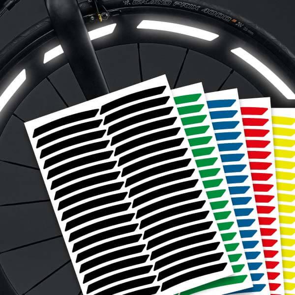 Reflektierende Aufkleber Fahrradaufkleber Felgen Streifen mehrere Farben