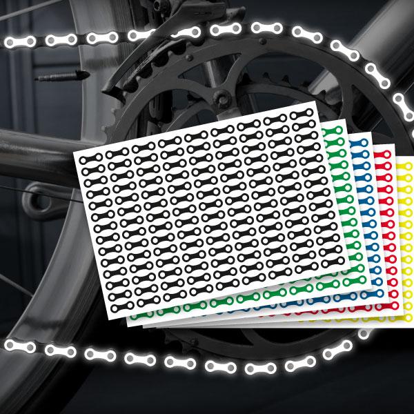 Reflektierende Aufkleber für's Fahrrad Fahrradkette in mehreren Farben