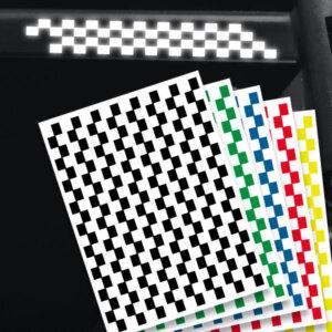 reflektierende Aufkleber für's Fahrrad racing streifen mehrere Farben