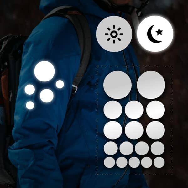 reflektoraufkleber für kleidung kreise für kinder jacken sportler erwachsene