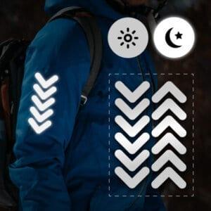 reflektoraufkleber für kleidung chevrons streifen für kinder jacken sportler erwachsene