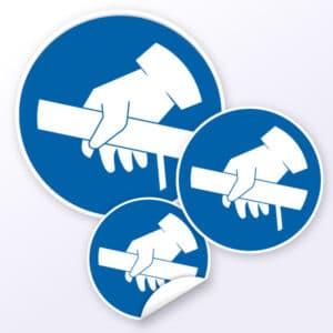 Gebotszeichen Handlauf benutzen