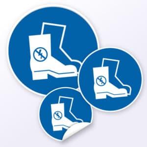 Gebotszeichen Antistatisches Schuhwerk benutzen