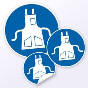 gebotszeichen Schutzschürze benutzen